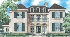 Solaine Home Plan | Sater Design Collection | Luxury House Plans