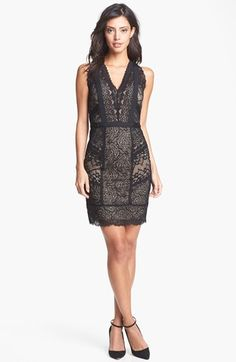 Nicole Miller Lace Sheath Dress available at #Nordstrom