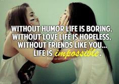 A source of quotes about inspiring others. Inspirational quotes about life, friendship, love, success and more! Love My Best Friend, Bestest Friend, Best Friends For Life, Best Friend Quotes, True Friends, Friend Poems, Besties Quotes, Cute Quotes, Bffs