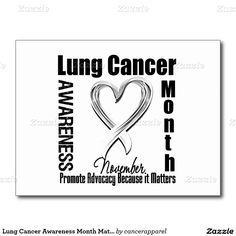 Lung Cancer Awareness Month Matters Postcard