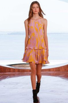 Dior cruise 2016 pink and yellow printed dress
