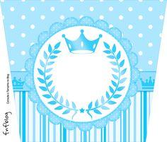 Rótulo Balde de Pipoca Realeza Azul
