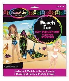 Melissa & Doug - Scratchin' Fashion Sticker Scenes Beach Kit (3395): Amazon.de: Spielzeug
