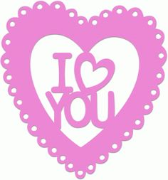 Silhouette Online Store - View Design #37963: i love you heart