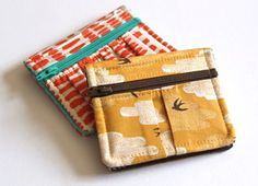 Sewing pattern for cute wallets. Nice way to finish those gorgeous scraps!