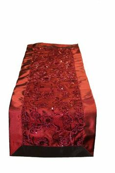 "Crown Embroidered Sequins Table Runner Size: 14"" x 34"", Color: Burgundy by Violet Linen. $10.99. Available in Brown, Gold, Burgundy, white and Beige color options 18"" Round . 12*18 Place mats 14*34 and 14*54 Table Runners. 100-percent polyester. Machine Washable, Imported .. Update your home decor with this attractive embroidered Sequins lace Table Runner .. Crown BU-D Size: 14"" x 34"", Color: Burgundy Features: -Material: 100pct Polyester.-Update your home decor with th..."