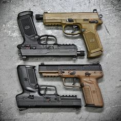By @metalhead_1 Options :) FN effin Heaven! Dueling @fnhusa FNX 45 Tactical's and FN Five Sevens at @otbfirearms.