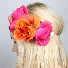Hair and Makeup eye makeup application order - Eye Makeup Bright Flowers, Flowers In Hair, Simple Flowers, Flower Hair, Fresh Flowers, Flower Headbands, Headband Hair, Baby Headbands, Pretty Flowers