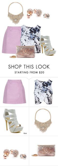 """""""Untitled #687"""" by hestiarocks on Polyvore featuring STELLA McCARTNEY, Topshop, Celeste, Bebe, GUESS and Chanel"""