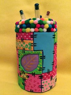 'Do Art Creativity': Porta Lápis Infantil, em estilo Patchwork
