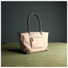 Womens Light Pink Nylon Shoulder Tote Medium Pink Nylon Handbag Purse for Ladies Leather Totes, Leather Handbags, Yellow Leather, Custom Bags, Black Nylons, Long Wallet, Handmade Handbags, Beach Bags, Shoulder Bag