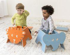 Hocker - Kinderhocker Löwe - ein Designerstück von julicadesign bei DaWanda