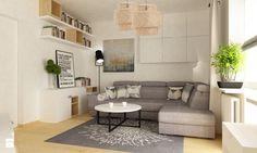 metamorfoza salonu 13 m2 - Średni salon, styl nowoczesny - zdjęcie od Grafika i Projekt architektura wnętrz