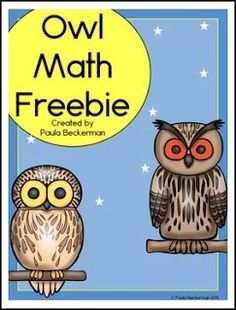 Owl activities: FREE Owl Math worksheets for Addition, subtraction, and ordering by size. Simply print and go! 1st Grade Math, Kindergarten Math, Teaching Math, Second Grade, Math Class, Maths, Teaching Ideas, Preschool, Math Addition
