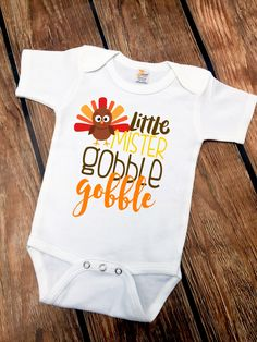 54c64e040 DISCOUNT code ANNABELLE15 on all Vazzie Tees purchases Little Mister Gobble  Gobble - Thanksgiving Shirts -