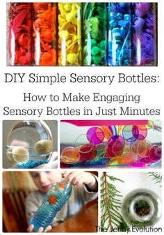 DIY Simple Sensory Bottles | The Jenny Evolution - repinned by @PediaStaff – Please Visit ht.ly/63sNt for all our pediatric therapy pins