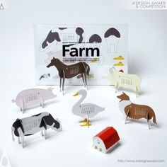 "A' Design Award and Competition - Images of Good Morning Original Calendar 2012 ""farm"" by Katsumi Tamura"