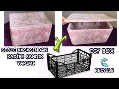 How to Crochet Entrelac - Tunisian Interlaced Patchwork Diamonds Entrelec by Naztazia Home Crafts, Diy And Crafts, Milk Crate Storage, Plastik Box, Vegetable Crates, Recycling, Plastic Crates, Apartment Decorating On A Budget, How To Make Box