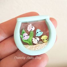 My experiments continue with uv resin 🤣 I was able to dome the back of this c . My experiments continue with uv resin 🤣 I was able to dome the back of this charm but the top I'm findin Fimo Kawaii, Polymer Clay Kawaii, Polymer Clay Charms, Polymer Clay Creations, Polymer Resin, Cute Crafts, Diy And Crafts, Crafts For Kids, Kawaii Crafts