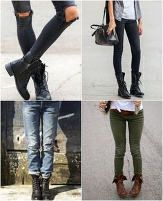 Boots, boots, boots, I am always in boots Combat Boot Outfits, Combat Boots, Biker Boots, Winter Outfits, Casual Outfits, Cute Outfits, Fashion Casual, Mein Style, Living At Home
