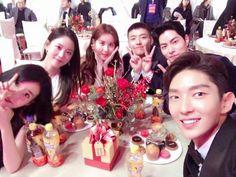 IU 161231  SBS Drama Award  with ScarletHeart cast