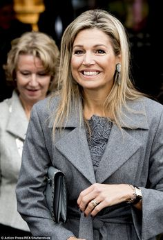 She's known for her elegance and poise - and today was no different as Queen Maxima took a trip to the butchery demonstration