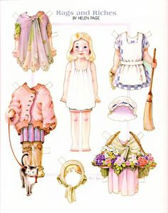 AshLeY _ Paper doll-Vintage, cute, pretty, dress, country, and Little girl 1