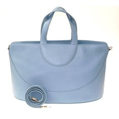 aef6c568175 The BVLGARI Detachable Strap Light Blue Leather Tote is a top 10 member  favorite on Tradesy.