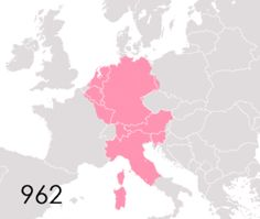 The Holy Roman Empire from 962 to 1806