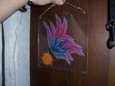 Engraved painted glass