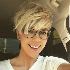 "10.6k Likes, 56 Comments - ShortHair DontCare  PixieCut (@nothingbutpixies) on Instagram: ""Are you still tagging #pixieswithglasses ??? Are you loving @prozhanna stylish look in this…"""
