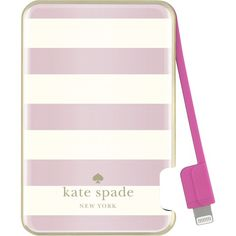 Keep your Lightning-enabled mobile devices powered and ready for use with this compact kate spade new york portable charger, which features a rechargeable 1500 mAh battery for reliable replenishment.