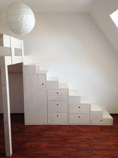 Vestvěné patro na spaní Pavlovská / high bed High Beds, Loft, Furniture, Home Decor, Home Decoration, Raised Beds, Decoration Home, Room Decor, Loft Beds