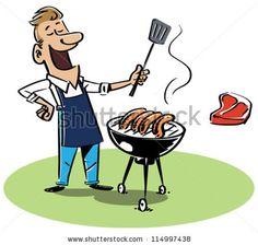 BBQ Clip Art Man - Check out more barbecue tips and tricks at TexasBBQNinja.com