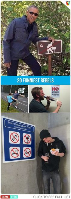 Funny Quotes : 20 Rebels Who are Breaking the Rules in Hilarious Ways Funny Cute, The Funny, Funny Images, Funny Pictures, Humor Grafico, Funny Signs, Funny People, Funny Posts, Laugh Out Loud