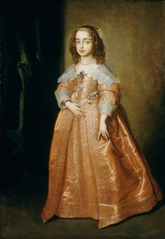 """""""Portrait of Mary, Princess of Orange."""" Anthony van Dyck (1599 – 1641). Mary (1631–1660) was the daughter of Charles I."""