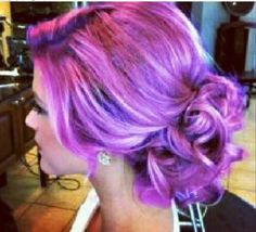 Purple pink hair...might go for this color