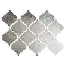 Antique Mirror Arabesque Mosaic Glass Tile