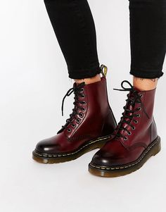 Image 1 of Dr Martens Pascal Cherry Red Boots 28 Chic Casual Style Shoes To Copy Now – Image 1 of Dr Martens Pascal Cherry Red Boots Source Dr. Martens, Doc Martens Stiefel, Botas Dr Martens, Red Doc Martens, Doc Martens Style, Doc Martens Boots, Doc Martens Outfit, Asos, Boot Over The Knee