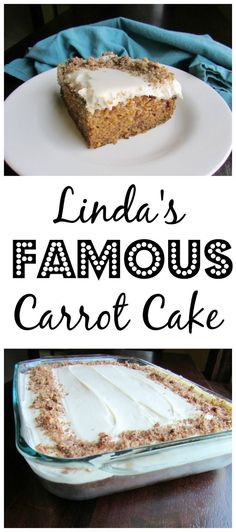 This carrot cake is a classic and a must make for Linda.  If she shows up without a carrot cake, everyone will be disappointed... it's famous! Make it for Easter or just because #EasterRecipes