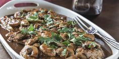 Slow Cooker Chicken Marsala - Make your next Chicken Marsala from home!  YUMMY!  www.GetCrocked.com