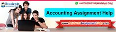 Accounting Assignment help service offers by the professional writer. Students Assignment Help offers best online Accounting Assignment Help to the students at an affordable price. We have 2500+ expert writers which are qualified top most university even we provide 24*7 help because our team members are online anytime.