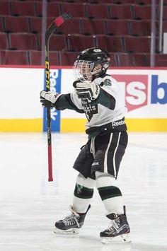A player celebrates after scoring a goal! #Blackhawks #1on1 #YouthHockey