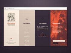 Dribbble - Teaser page (jewelry store) by thibaud