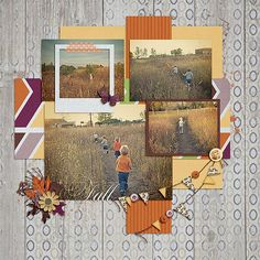 Into the Field ~ Template & kit My Life September, both by Scraps N Pieces.