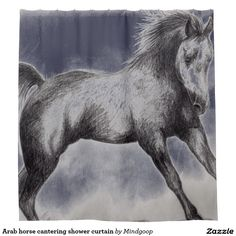 Arab horse cantering shower curtain