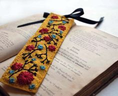 hand embroidered bookmark - Google Search