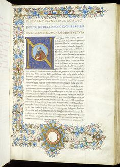 Epistolae, M.477 fol. 1r - Images from Medieval and Renaissance Manuscripts - The Morgan Library & Museum