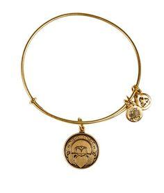 Alex and Ani Claddagh Bangle Russian Gold Fringe Necklace, Stone Necklace, Necklace Lengths, Alex And Ani, Claddagh, Bangles, Bracelets, Labradorite, Boutique