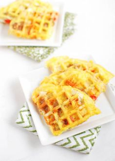 Egg Waffles by theleangreenbean: Ready in one minute and easy to customize, after trying these Egg Waffles you'll never want to cook eggs in a pan again. #Eggs #Waffles #Fast